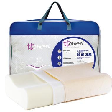 Подушка ортопедическая c эффектом памяти высокая CO-04-202B