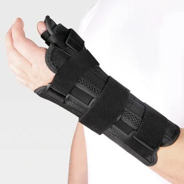 Бандаж на лучезапястный сустав с фиксацией большого пальца, на левую руку WS-ST left